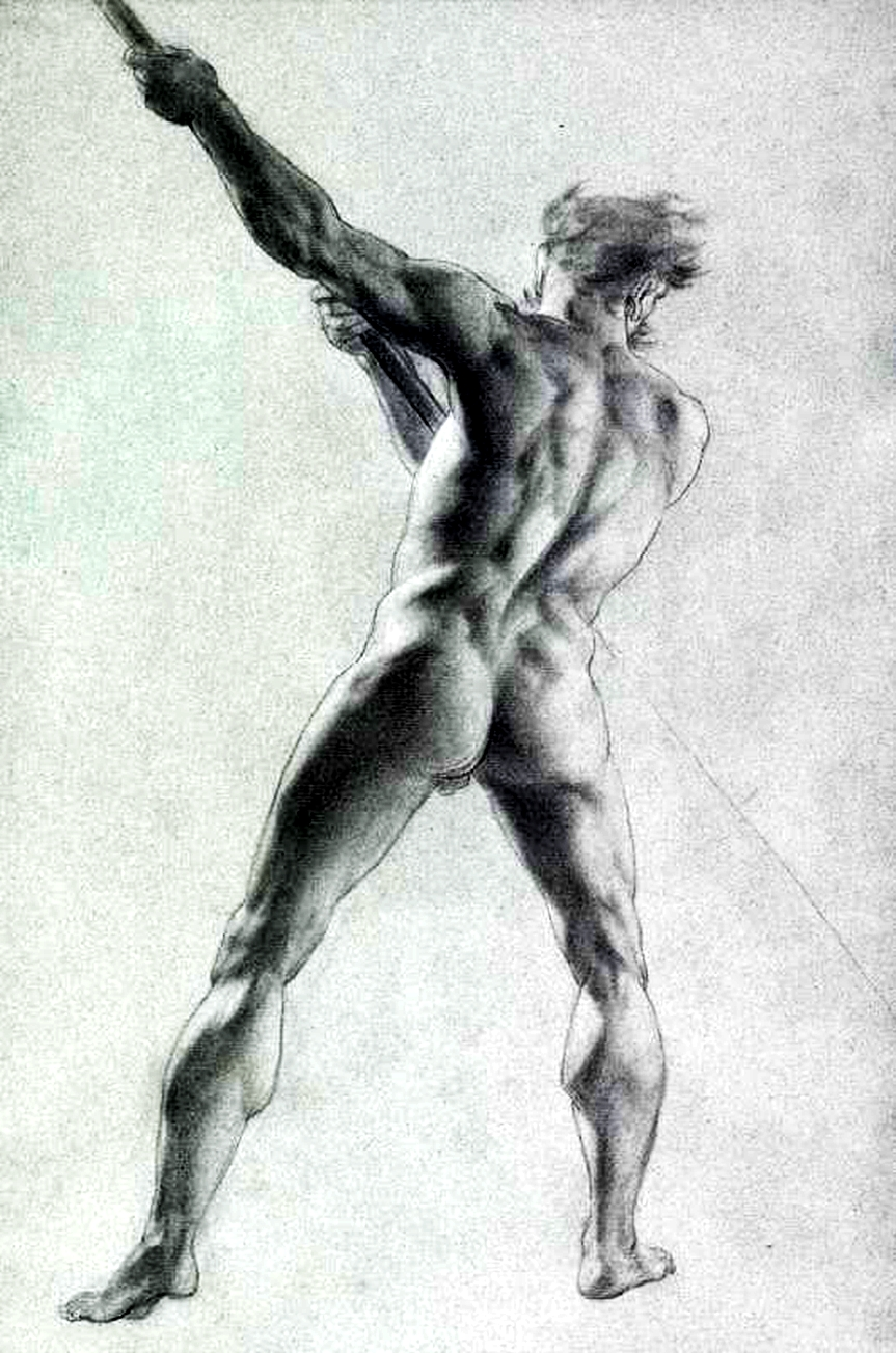 John Trumbull – Male Nude From Behind